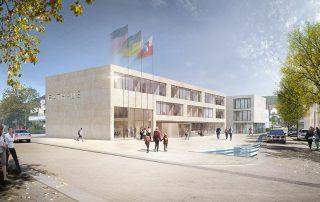 Neuordnung Rathausareal Altbach