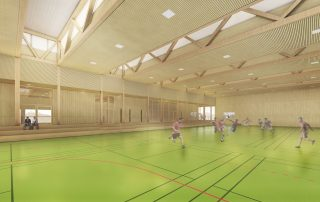 Wettbewerb Sporthalle Waldau 01